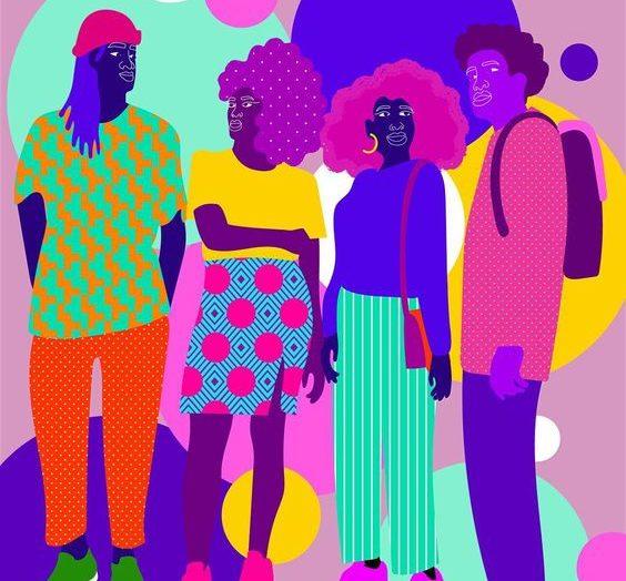 Les illustrations pop et engageantes d'Aurélia Durand qui mettent en scène des personnages afro-descendants.