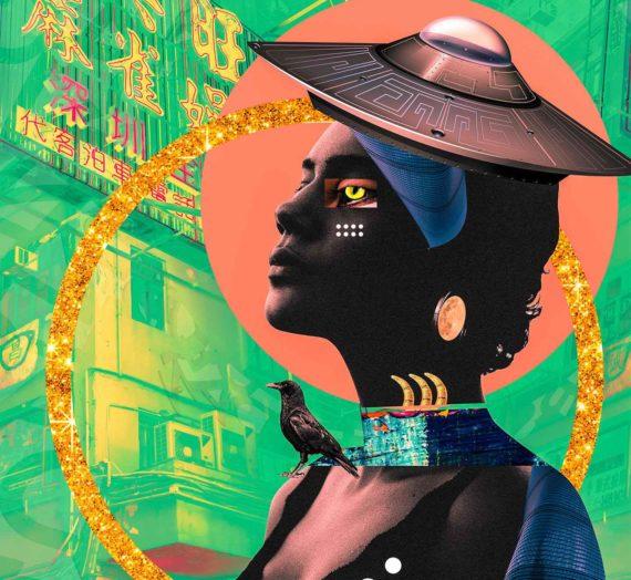 Les collages afrofuturistes de Kaylan Michel