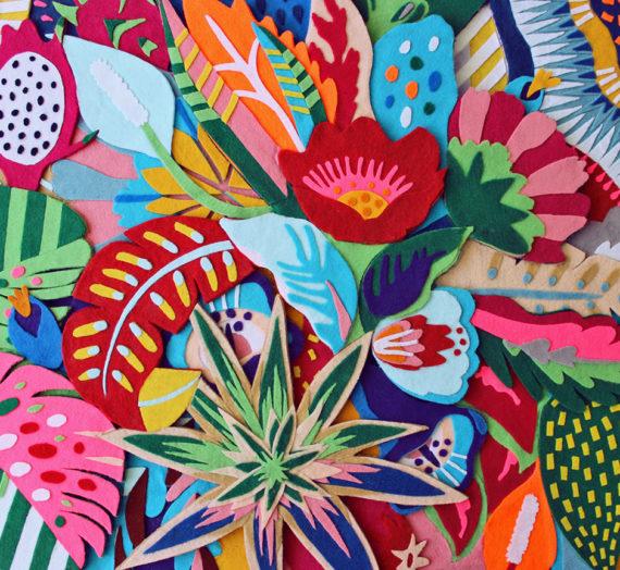 Naíma Almeida et son style d'illustration en mosaïque de couleurs