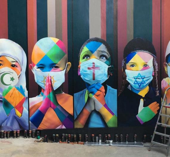 Eduardo Kobra peint un monde rempli d'espoir, de paix et d'unité