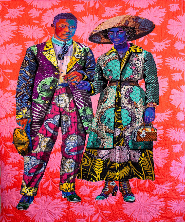 African quilted portrait