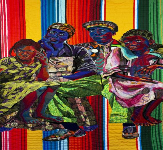 L'artiste textile Bisa Butler crée des portraits matelassés, haut en couleurs