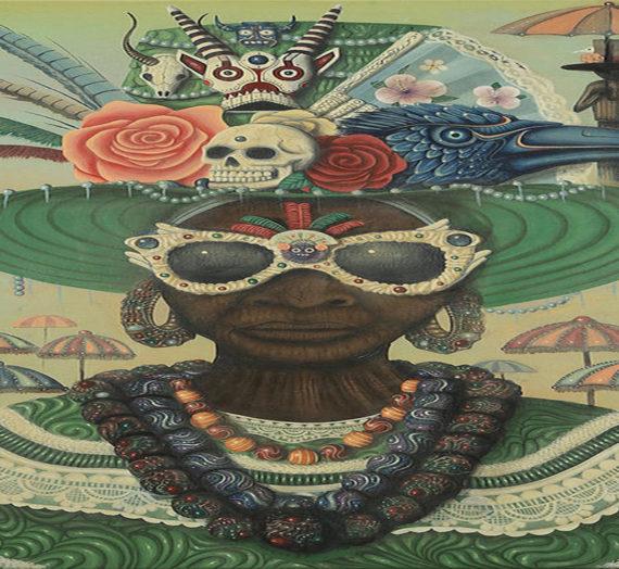 Les peintures de Paul Lewin explorent l'afrofuturisme, le folklore caribéen et la féminité